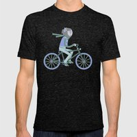 Werewolf Goes For A Ride Mens Fitted Tee Tri-Black SMALL