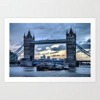 Tower Bridge Again Art Print