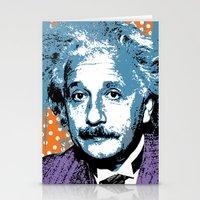 Blue Einstein Stationery Cards
