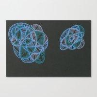 Nebula Twins One Canvas Print