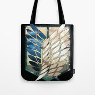 Tote Bag featuring Attack On Titan: Scoutin… by Hunnydoll