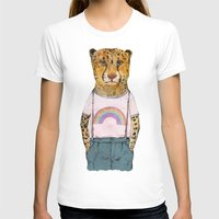 Little Cheetah Womens Fitted Tee White SMALL