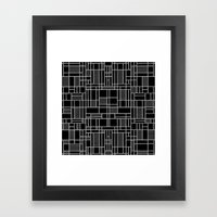Map Lines Silver Framed Art Print
