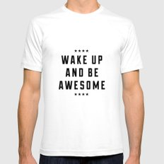 Be Awesome II SMALL Mens Fitted Tee White
