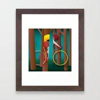 Life is strange, riding bicycle Framed Art Print