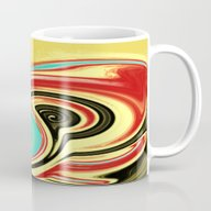Red, Turquoise, And Blac… Mug