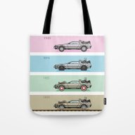 Tote Bag featuring Back To The Future - Del… by M. Gulin