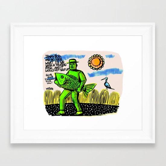 Jimmy Bob's Fishing Adventure Framed Art Print