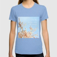 Let The Spring Takes Its… Womens Fitted Tee Tri-Blue SMALL