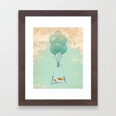 flight to freedom Framed Art Print