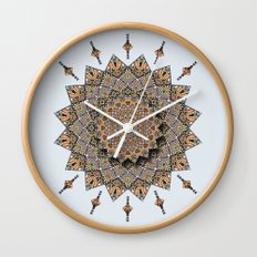 Southwest Art Mandala Wall Clock