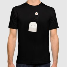 Tea time SMALL Mens Fitted Tee Black