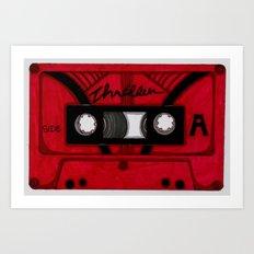 Thriller The Tape Art Print