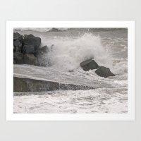 Angry Sea Art Print