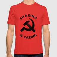 Sharing Is Caring Mens Fitted Tee Red X-LARGE