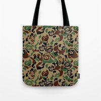 Pug Camouflage Tote Bag