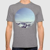 The Alps Mens Fitted Tee Tri-Grey SMALL