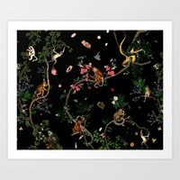 Monkey World Art Print