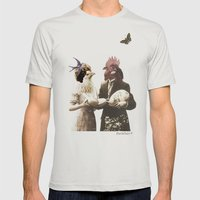 Mr & Ms Chick Mens Fitted Tee Silver SMALL