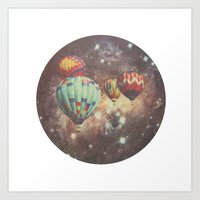 Riding In Space Art Print