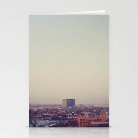 Morning Over Detroit Stationery Card