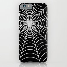 Spiderweb | Silver Glitter iPhone 6 Slim Case