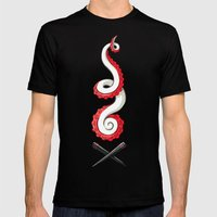 Seafood Mens Fitted Tee Black SMALL