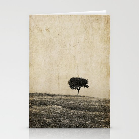 lonely tree Stationery Card