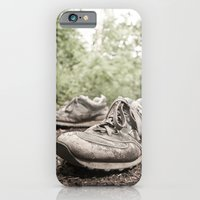 iPhone & iPod Case featuring shoes for a decade, not for a year by Martin Heinemann