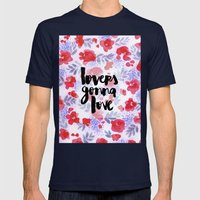 Lovers [Collaboration with Jacqueline Maldonado] Mens Fitted Tee Navy SMALL
