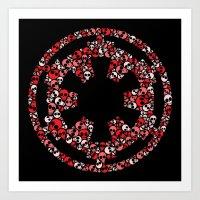 Star Wars Imperial Skulls Art Print