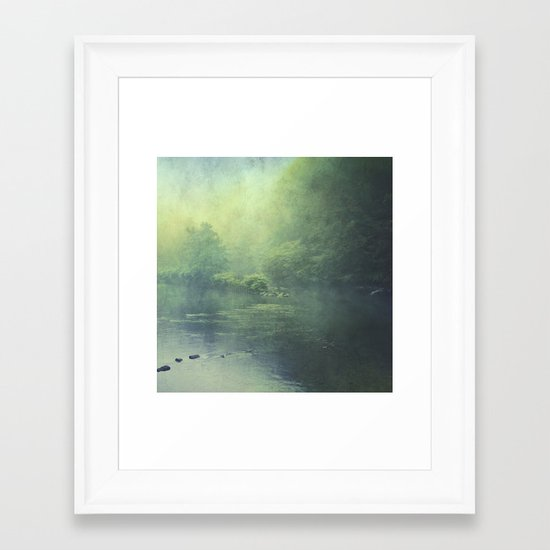 mystic haze Framed Art Print