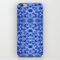 Petals in Blue iPhone & iPod Skin