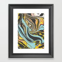 Wavy Marbling Framed Art Print