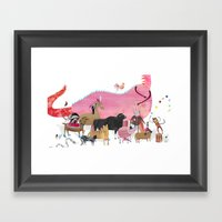 ANIMALS And A Dragon Framed Art Print