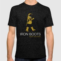 Iron Boots Mens Fitted Tee Tri-Black SMALL