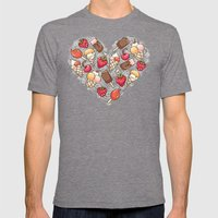 In love with icecream Mens Fitted Tee Tri-Grey SMALL