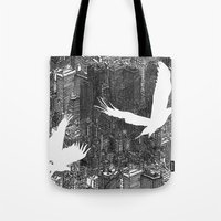 Ecotone (black & white) Tote Bag