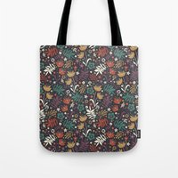 Midnight Florals Tote Bag
