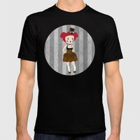 steampunk Mens Fitted Tee Black SMALL