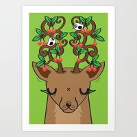 Love With Cherries On To… Art Print