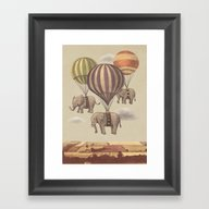 Flight Of The Elephants  Framed Art Print