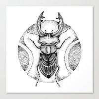 Stag Beetle Canvas Print