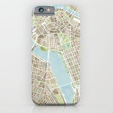 Boston Sepia Watercolor Map Slim Case iPhone 6s