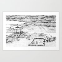Star Island Sketch Art Print