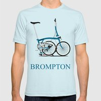 Brompton Bike Mens Fitted Tee Light Blue SMALL