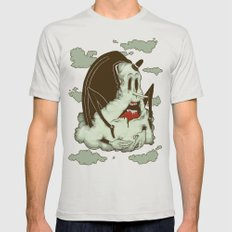 Creep Cloud Face Melt Mens Fitted Tee Silver SMALL