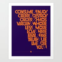 """Art Print featuring The """"&"""" Poster by Viet Huynh"""