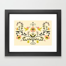 Hummingbirds and Pears Framed Art Print