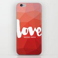 Love Never Fails iPhone & iPod Skin